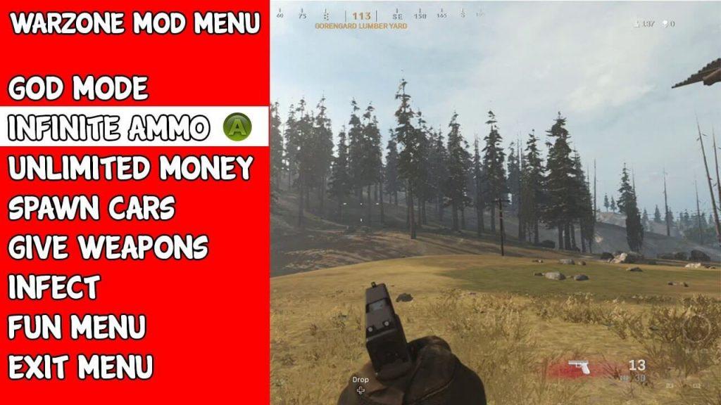 Call of Duty Warzone mod menu trainer