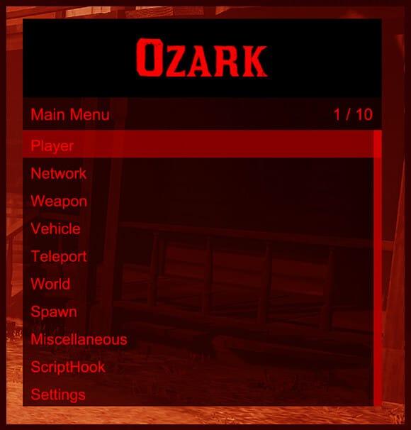 Ozark mod menu trainer hack for Red Dead Redemption 2