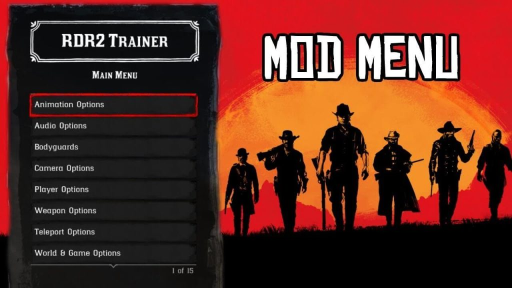 RDR2 trainer mod menu hack for PC, PS4 and Xbox