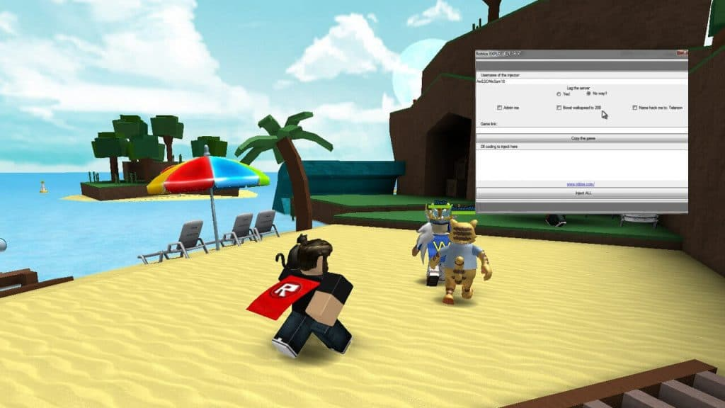 Hack injector for Roblox